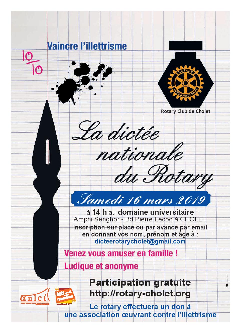 Dictée nationale du ROTARY